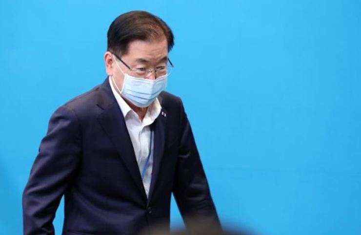 Chung Eui-yong, former top security advisor to President Moon Jae-in, has been named as the new foreign minister. Korea Times file