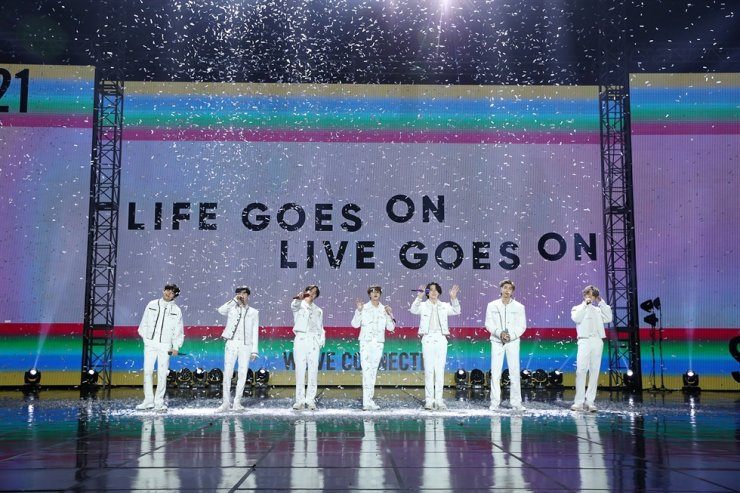 BTS performs during the '2021 New Year's Eve Live' online concert on Dec. 31, 2020. / Courtesy of Big Hit Labels