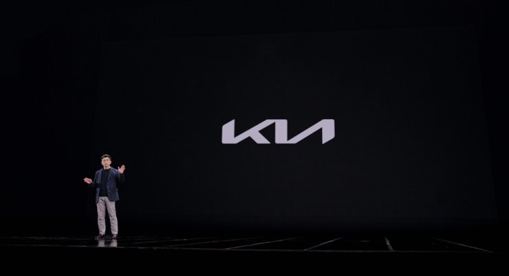 Kia CEO Song Ho-sung speaks during an online event to showcase the company's new name and logo, Friday. Courtesy of Kia