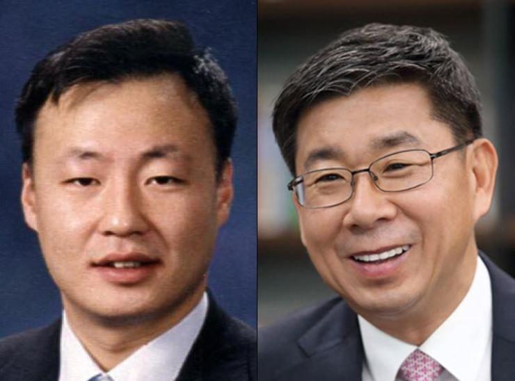 Hyundai BNG Steel CEO Chung Il-sun, left, and LG Hausys CEO Kang Gye Woong