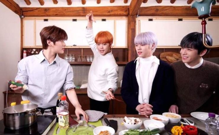 K-pop boy group Cravity feature in Airbnb Korea's 'Inside K-pop.' Courtesy of Airbnb Korea