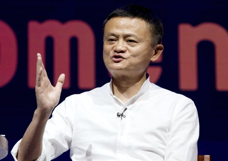 In this Oct. 12, 2018, file photo, Alibaba Group Chairman Jack Ma speaks during a seminar in Bali, Indonesia. The highest-profile entrepreneur in China appeared Wednesday, Jan. 20, 2021, in a video posted online, ending a 2 1/2-month disappearance from public view. AP