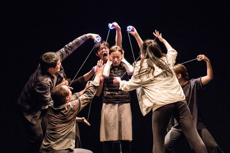 Play 'The Mission of Egg' is staged at ARKO Arts Theater through Sunday as part of the ARKO Selection program. Courtesy of ARKO