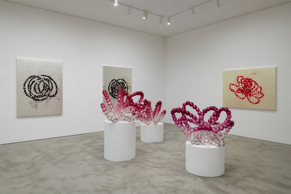 Installation view of Jean-Michel Othoniel's 'New Works' at Kukje Gallery in central Seoul / Courtesy of Kukje Gallery