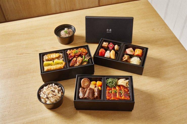 Korean cuisine restaurant Soowoon run by Haevichi Hotels & Resorts offers the premium lunchbox. / Courtesy of Haevichi Hotels & Resorts