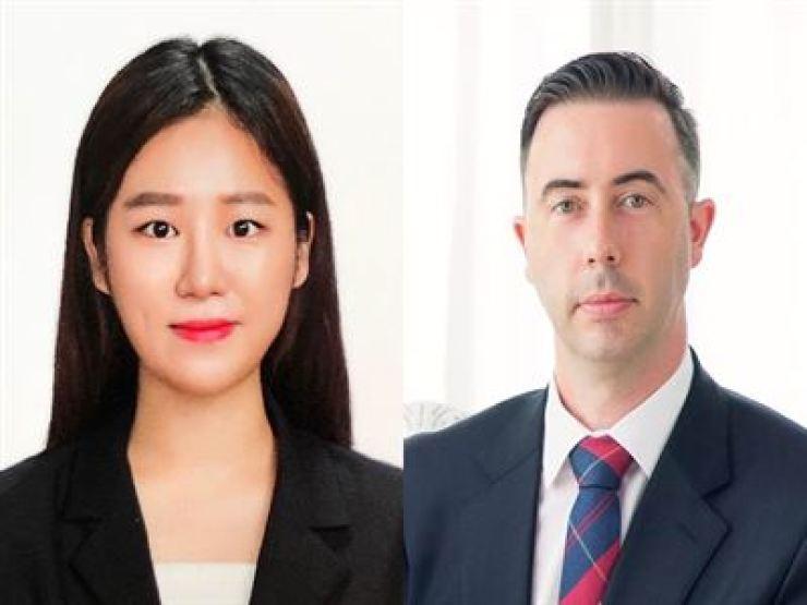 Jian Seo, left, and David Tizzard