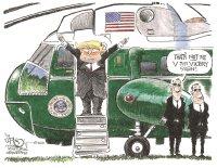 Trump waves goodbye