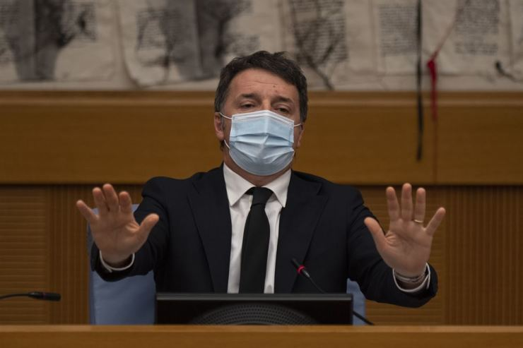 Italian Senator Matteo Renzi speaks during a press conference in Rome, Italy, Jan. 13. / Xinhua-Yonhap