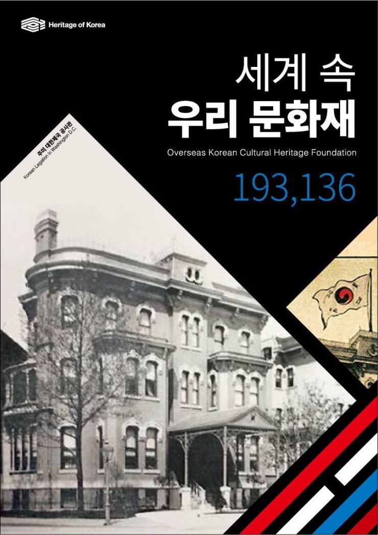 A sample of a promotional booklet promoting Korea's overseas cultural heritage properties using the 'Heritage of Korea' brand identity / Courtesy of Cultural Heritage Administration