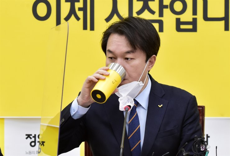 Kim Jong-cheol, the chief of the liberal Justice Party / Yonhap