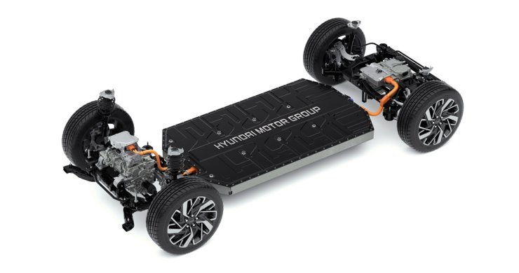 Hyundai Motor Group's Electric-Global Modular Platform (E-GMP). The platform will be used to produce electric vehicles for the group's Hyundai, Kia and Genesis brands. / Courtesy of Hyundai Motor Group