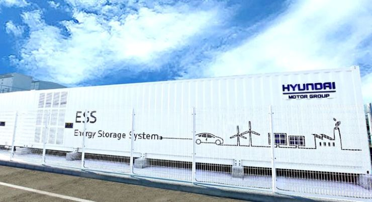 Hyundai Motor Group's energy storage system at its Ulsan plant. / Courtesy of Hyundai Motor Group