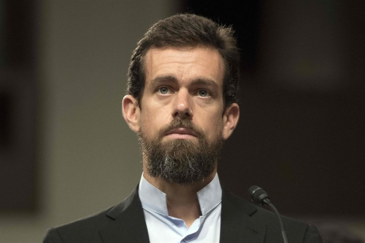 In this file photo taken on Sept. 5, 2018, Twitter CEO Jack Dorsey testifies before the Senate Intelligence Committee on Capitol Hill in Washington, DC. Dorsey said on Jan. 13, 2021, that banning U.S. President Donald Trump's account sets a dangerous precedent and represents a failure to promote healthy conversation on the platform. AFP