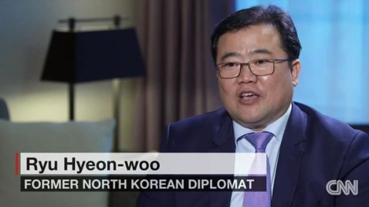 North Korea's former acting ambassador to Kuwait Ryu Hyun-woo has an interview with CNN in January. Captured from CNN