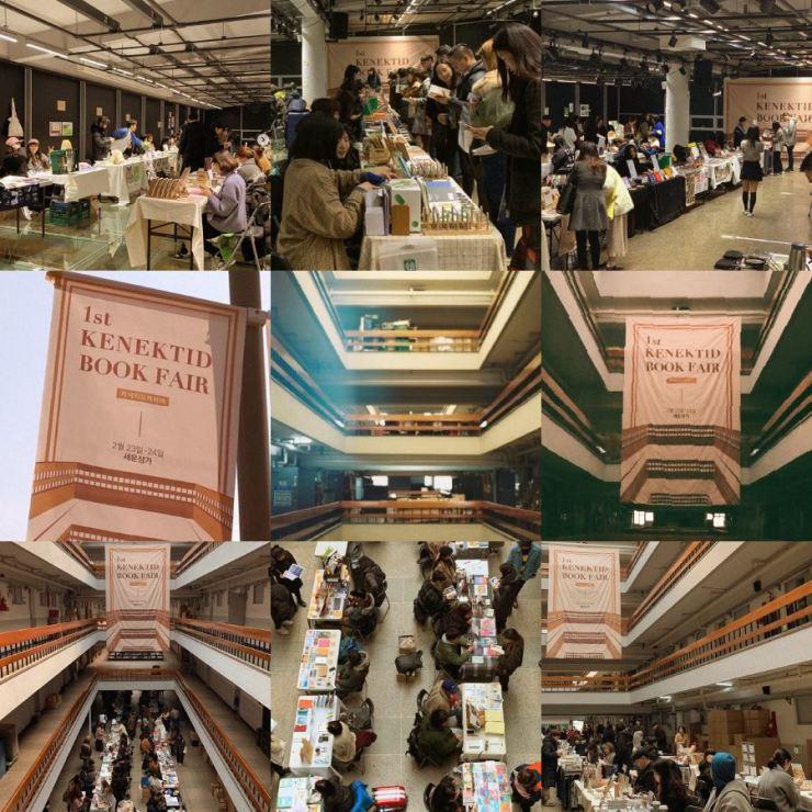 Images from the first Kenektid Book Fair held in 2019 / Courtesy of Kenektid X Bookstore