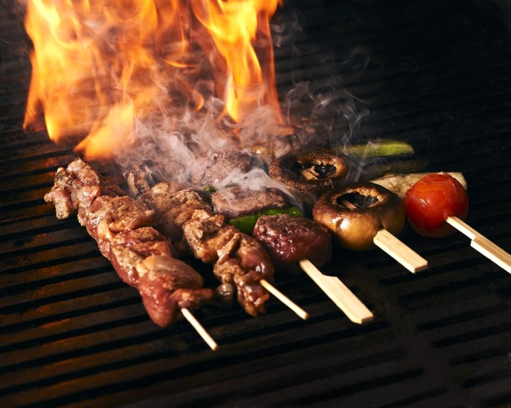 Jogakbo restaurant features fireside-cooking cuisine with pan-Asian flavors. / Courtesy of Andaz Seoul Gangnam