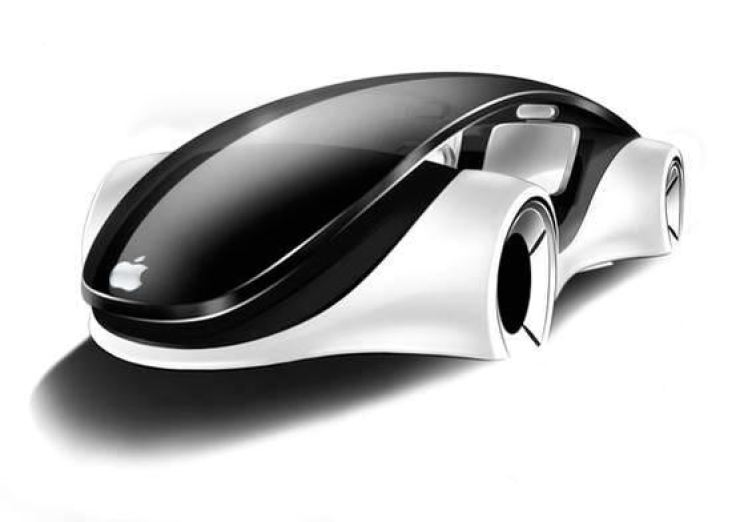 A rendered image of Apple's iCar
