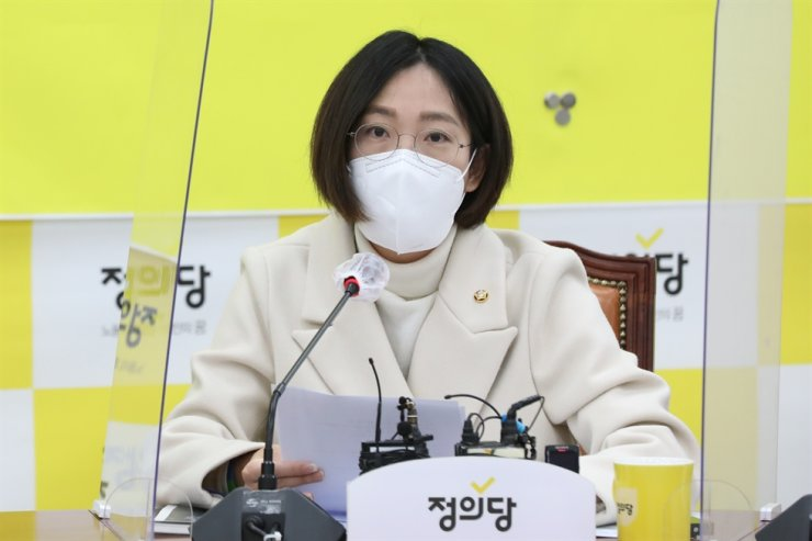 Rep. Jang Hye-young of the minor opposition Justice Party / Yonhap
