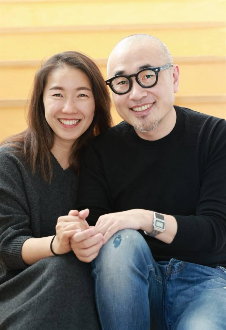 Woowa Brothers founder and Chairman Kim Bong-jin and his wife Sul Bo-mi / Courtesy of Woowa Brothers