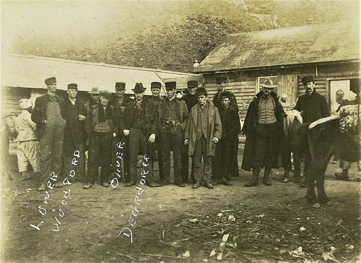 The first group of miners from Whitley County, Indiana in 1901.  Courtesy of the Lower Family