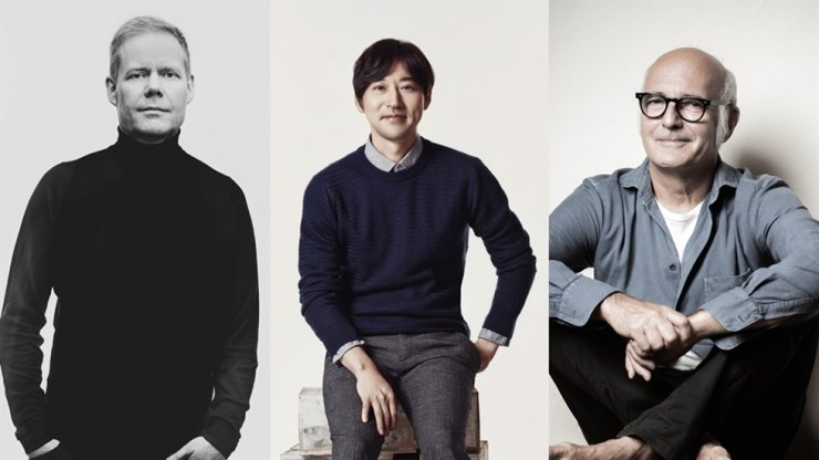 From left are composers Max Richter, Yiruma and Ludovico Einaudi. Courtesy of Universal Music