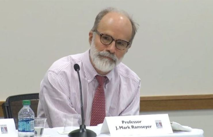 J. Mark Ramseyer / captured by Yonhap from Harvard Law School YouTube account
