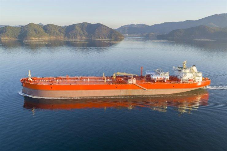 Samsung Heavy's LNG oil transport ship / Courtesy of Samsung Heavy