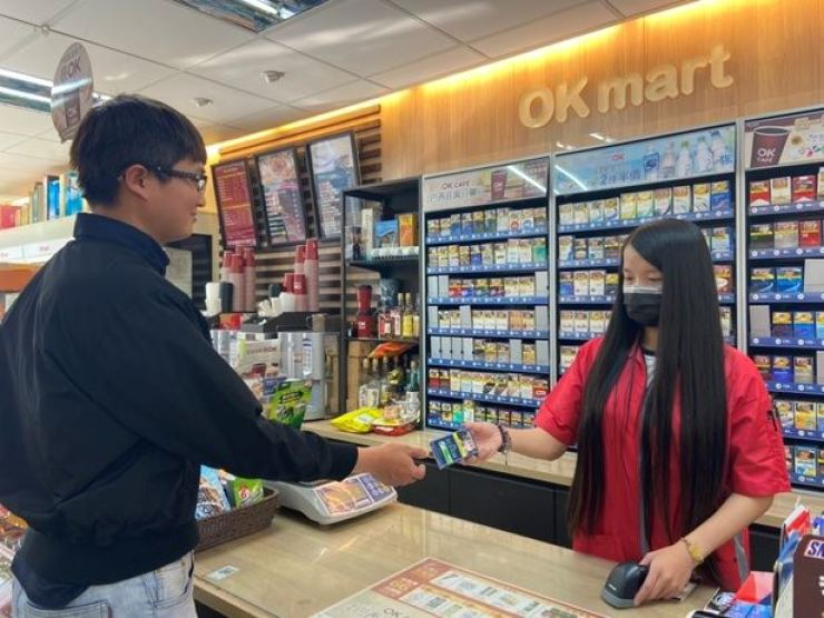 KT&G cigarette brands are displayed at a convenience store in Taiwan in this undated photo. The company opened its office in Taiwan, as part of its strategy of becoming the world's fourth-largest tobacco manufacturer by 2025. Courtesy of KT&G