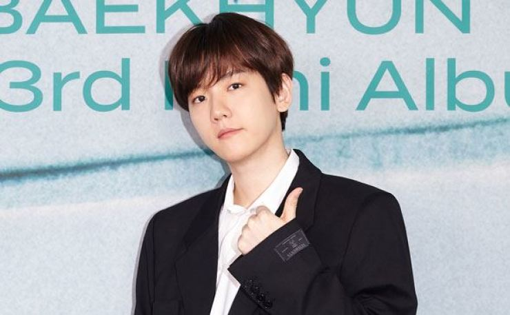 Baekhyun of K-pop boy band EXO had an online press conference, Tuesday, prior to the release of his third solo mini-album 'Bambi.' Courtesy of SM Entertainment
