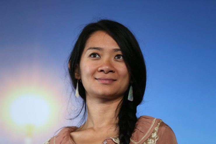 In this file photo taken on September 5, 2015, US-China director Chloe Zhao poses during a photocall to present the movie 'Songs My Brothers Taught Me' in the French northwestern sea resort of Deauville, during the 41th Deauville US Film Festival. AFP-Yonhap