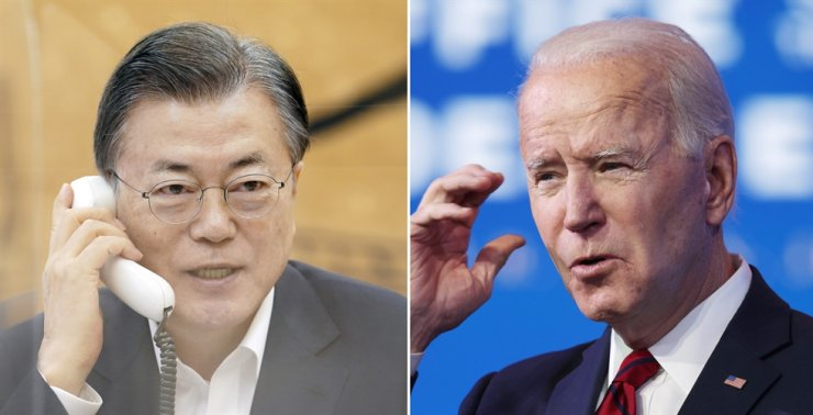 President Moon Jae-in and U.S. President Joe Biden are set to hold their first summit, May 21, in Washington, D.C., according to Cheong Wa Dae and the White House, Friday. Korea Times file