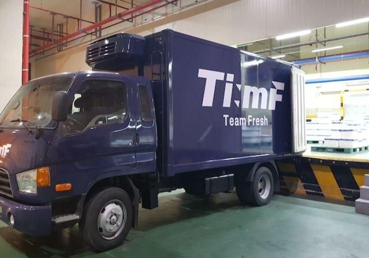 Team Fresh's logistics center / Korea Times file