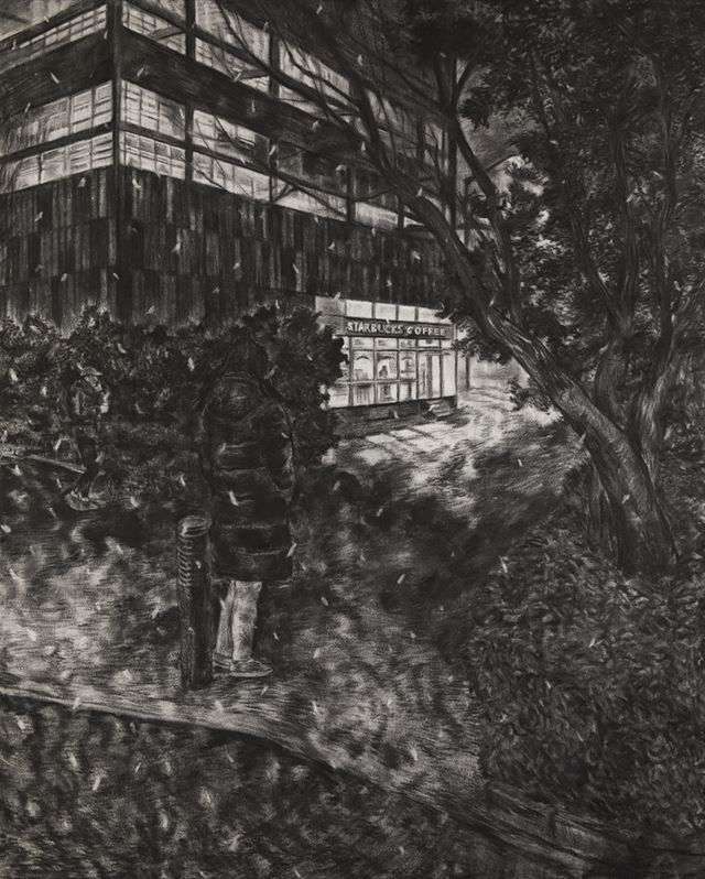 A view of Noh Sang-ho's 'There's a Town Where All the People Have Had to Keep Their Eyes Closed Since They Were Born' series (2014) at the Arario Gallery Cheonan, South Chungcheong Province / Courtesy of Arario Gallery