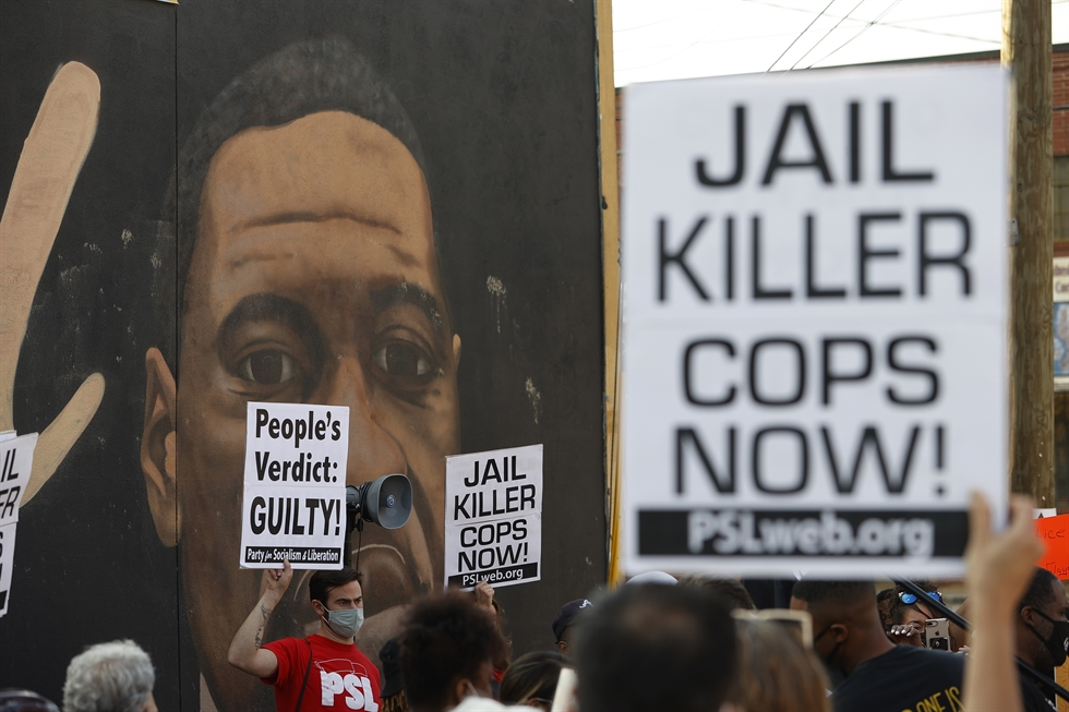 Former Minneapolis police officer Derek Chauvin listens as a jury finds him guilty of all charges in his trial for second-degree murder, third-degree murder and second-degree manslaughter in the death of George Floyd in Minneapolis, Minn., April 20, in a still image from video. Reuters-Yonhap
