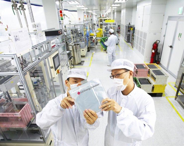 LG Energy Solution's factory in Ochang area in Cheongju / Korea Times file