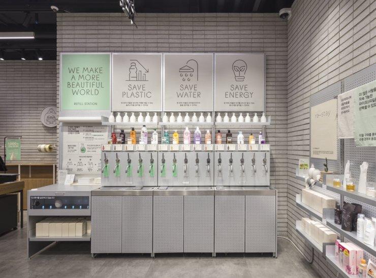 AmorePacific's cosmetics store in Gwangyo, Gyeonggi Province / Courtesy of AmorePacific