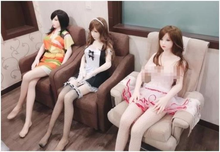 Seen is a screen capture from a website of a company selling sex dolls. Yonhap