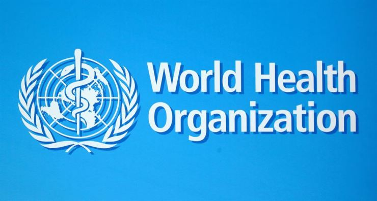 The logo of the World Health Organization (WHO), is seen before a news conference in Geneva, Switzerland, June 25. Reuters-Yonhap