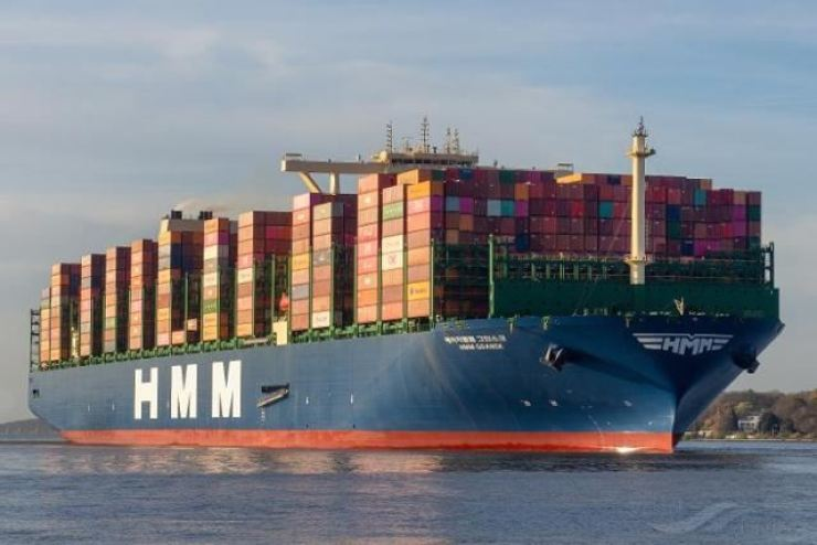 An HMM container ship / Courtesy of Hyundai Merchant Marine