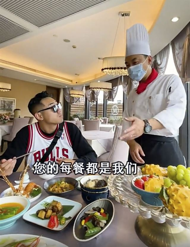 Big Logo, a food influencer famous for seeking out expensive restaurants / South China Morning Post
