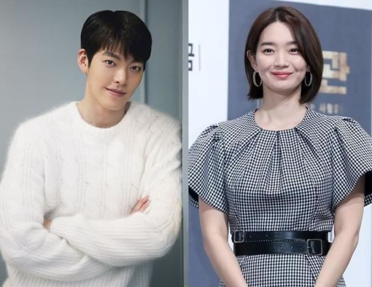 Actors Kim Woo-bin, left, and Shin Min-a / Korea Times file