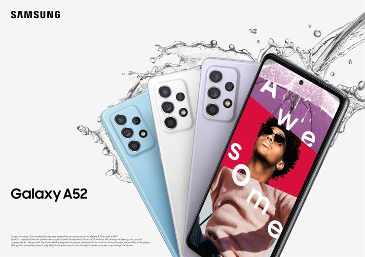 Samsung's Galaxy A52 smartphones / Courtesy of Samsung Electronics
