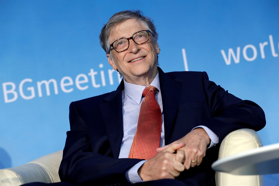 In this Feb. 1, 2019, file photo, Bill and Melinda Gates smile at each other during an interview in Kirkland, Wash. AP-Yonhap