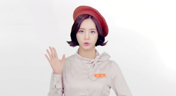 Hyeri from idol girl group Girl's Day in the video ad made by part-time job recruitment site Albamon / Screen capture from YouTube