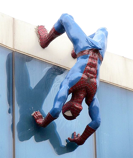 Statue of aroused Spider-Man removed