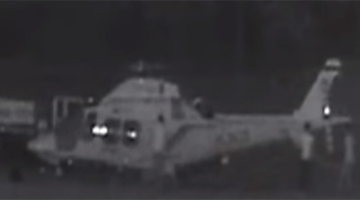 Three men were indicted for allegedly damaging an emergency helicopter. / Screen capture from Yonhap News Agency