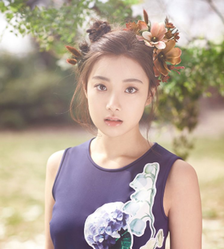 Hyunjoo of K-pop girl band April permanently leaves the group. / Courtesy of DSP Media