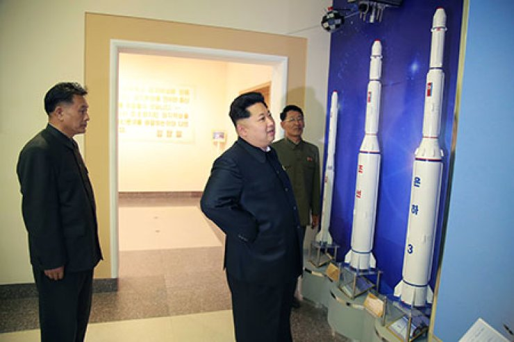 North Korean leader Kim Jong-un has visited a new satellite control center, the regime's state-controlled Korean Central News Agency (KCNA) reported Sunday./ Yonhap