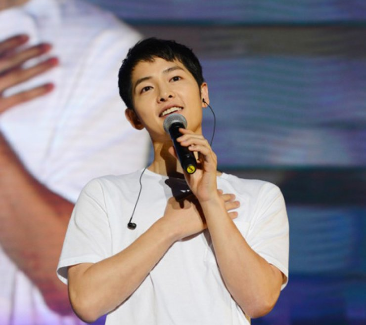 Actor Song Joong-ki was placed the first on the top ten hallyu stars in China this year. /Courtesy of Blossom Entertainment