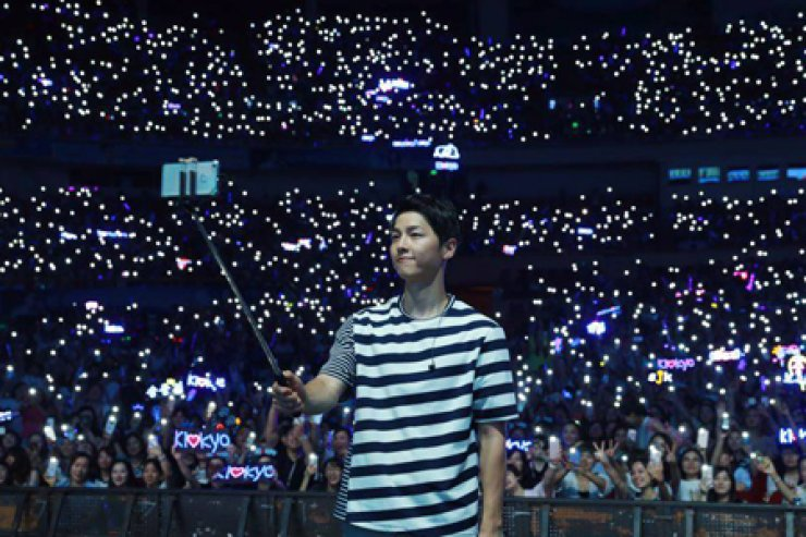 Song Joong-ki holds his last fan meeting at Shanghai/ Courtesy of Blossom Entertainment's Facebook